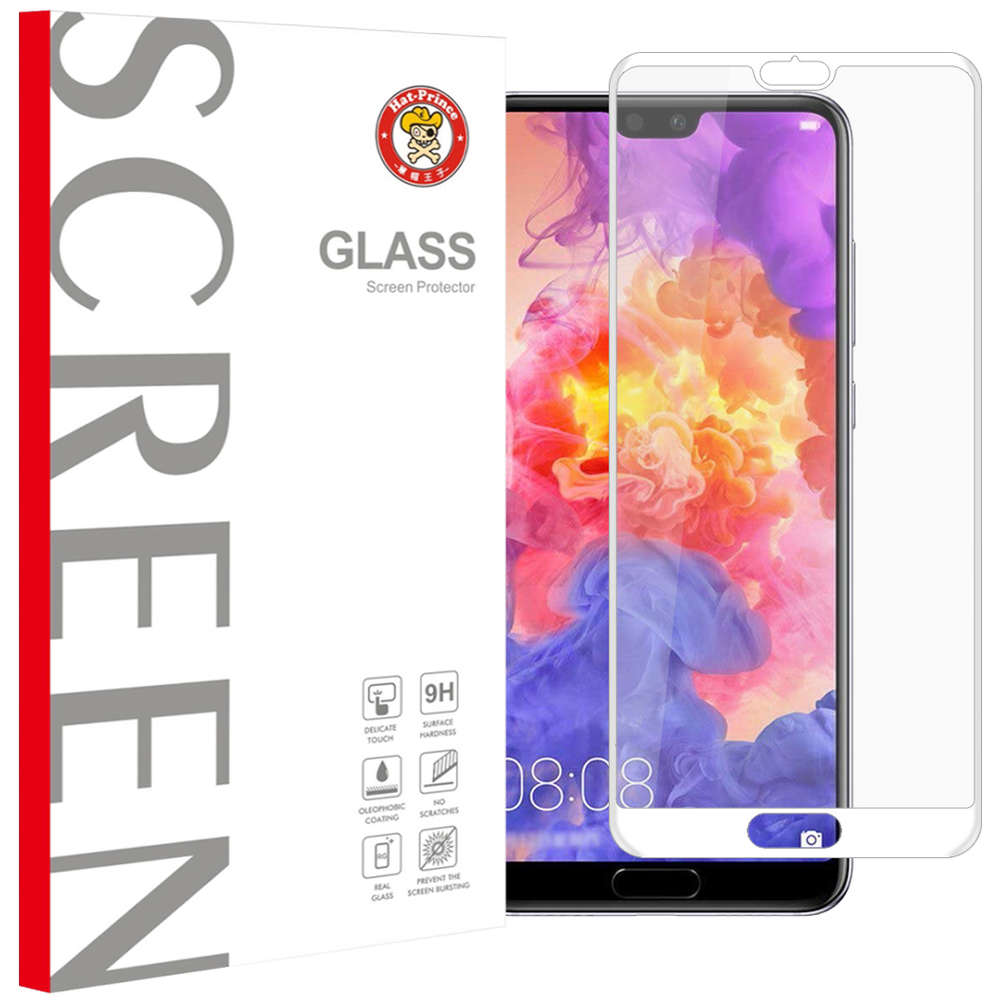 Full Tempered Glass Screen Protector - Huawei P20 Pro (White)